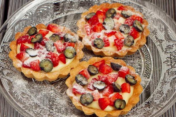 Мини тарталетка с ягодами