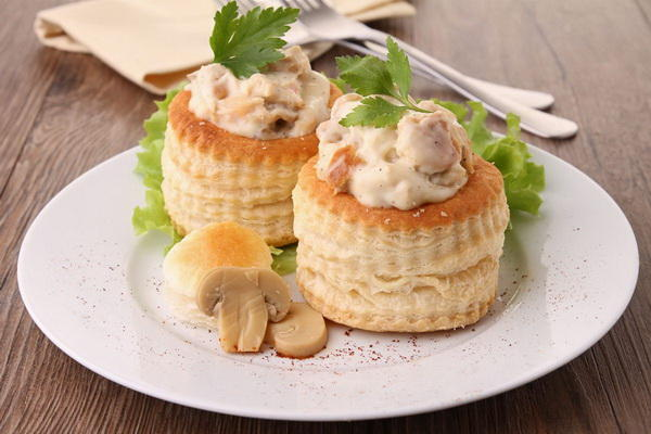Буше с грибами и сливочным сыром