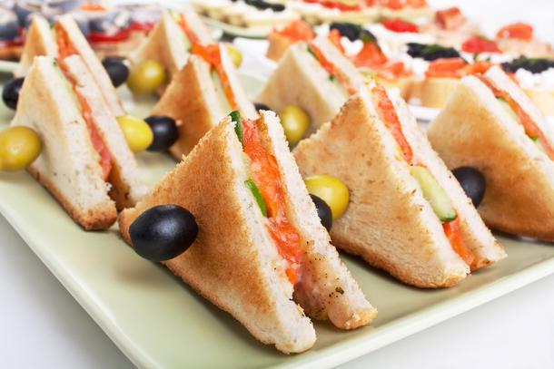 """Мини-сендвич """"Вегетарианский"""""""