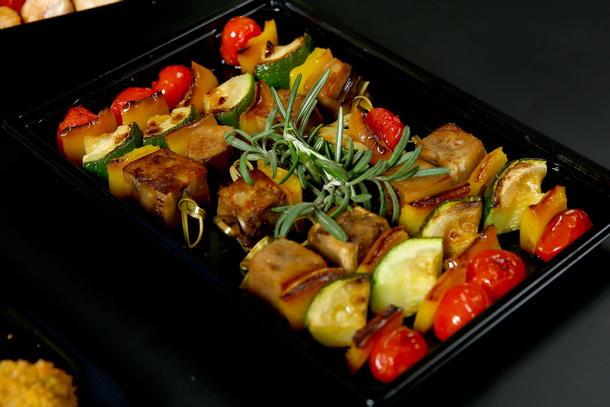 Мини шашлычки из овощей