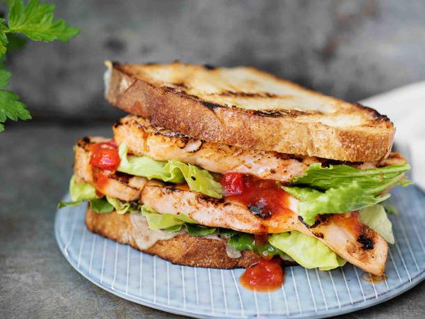 Мини сэндвич с куриным филе