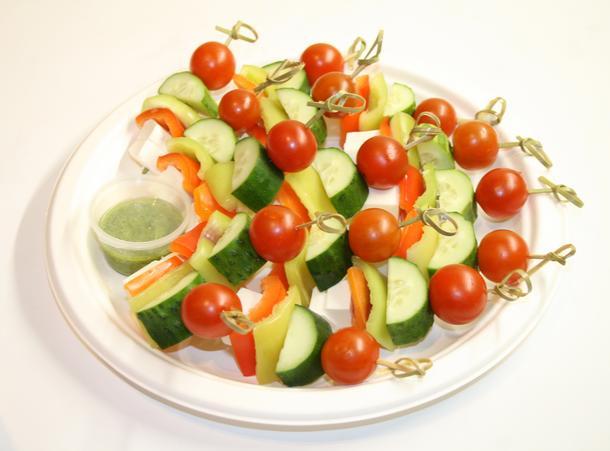Ассорти овощей с сыром Фета