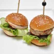 Мини Бургер с куриной котлеткой