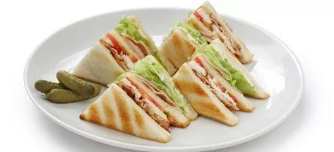 Мини-сэндвич с куриным филе