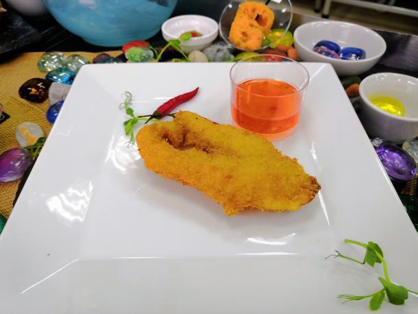 Рыбка темпура с паназиатским соусом