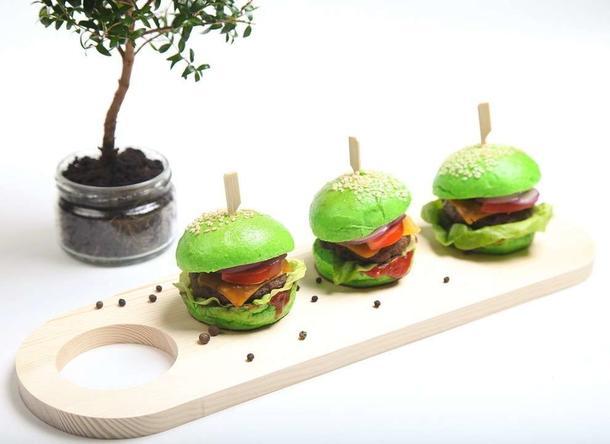Мини бургер зеленый