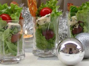 (Фуршет) Салат с виноградом и сыром