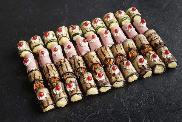 Сет № 15 Рулеты с сыром и овощами