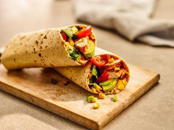 Тортилья с курочкой и овощами