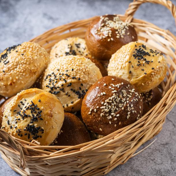 Хлебная корзинка с булочками (12шт)