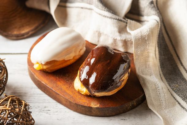 Мини эклеры (ваниль, шоколад)