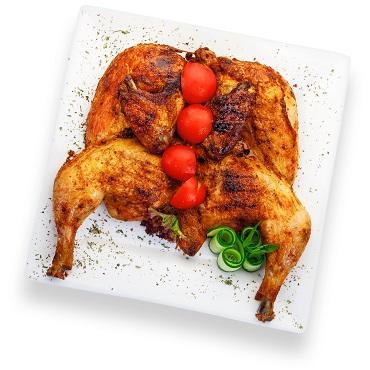 Цыпленок табака с томатами и зеленью