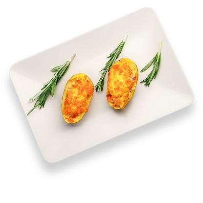 Картофель запеченный с беконом и сыром