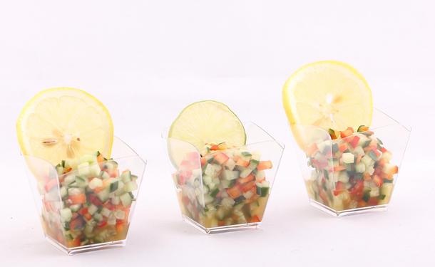 Тартар из овощей в лимонной заправке