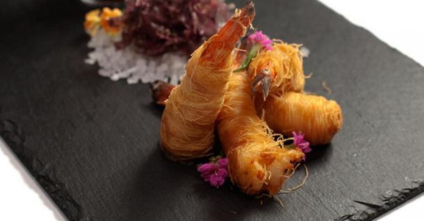 Креветки в тесто котайфу
