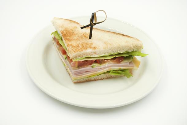 Мини -сэндвич с ветчиной