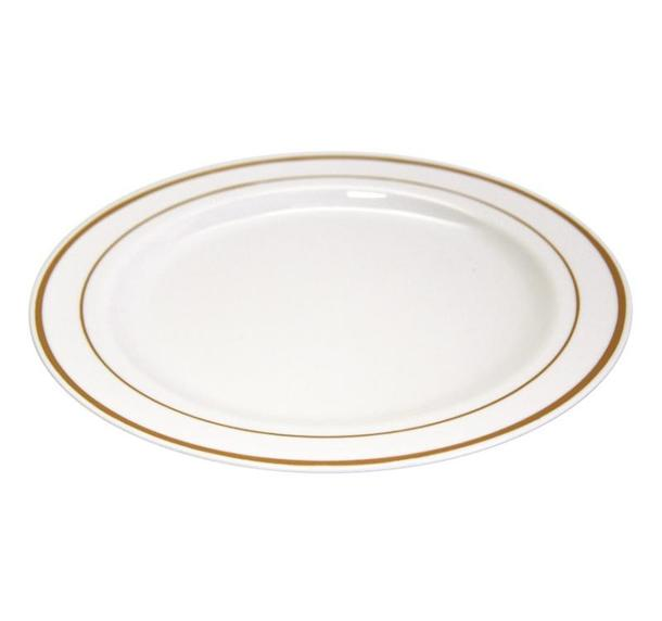 Одноразовая пластиковая тарелка Премиум