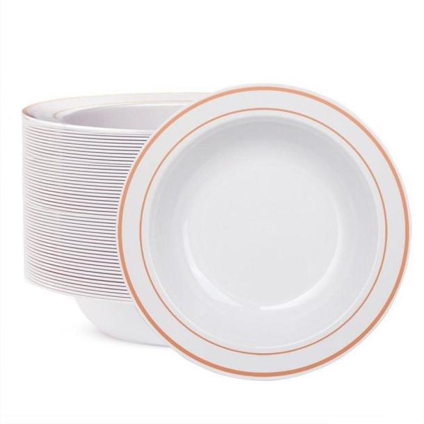 Одноразовая тарелка премиум